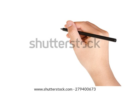 Hand writing isolate on white with clipping path