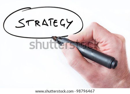Hand writing Strategy on whiteboard