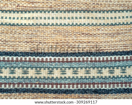 carpet pattern background home. handmade home textile background of carpet in pastel colors tapestry with decorative pattern and c