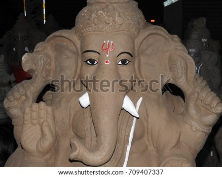 Lord ganesh statue idol made clay stock photo 702689002 for What is soil mostly made of