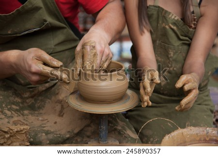 Hands Of The Potter And His Disciple