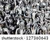 Hands Statue from Hell in Wat Rong Khun at Chiang Rai Thailand - stock photo