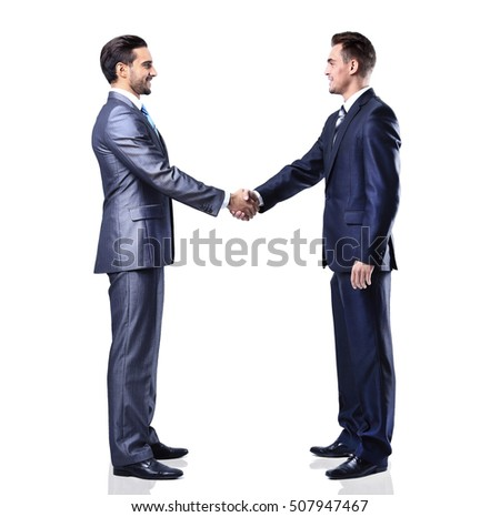 handshake isolated over white background