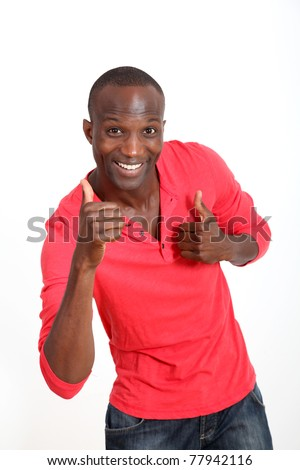 Handsome black man with cheerful attitude