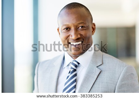 handsome male african american corporate worker