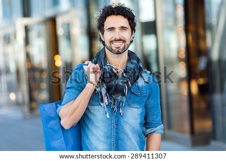 portrait young smiling man night city stock photo 183598277 shutterstock. Black Bedroom Furniture Sets. Home Design Ideas