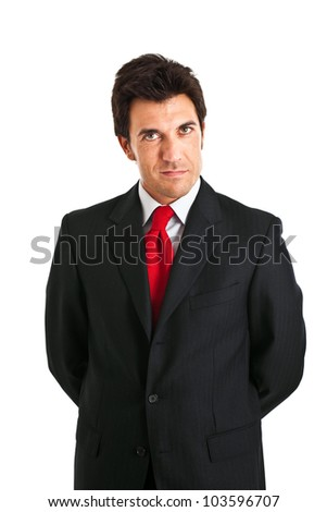 Handsome successful businessman portrait