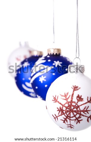 hanging christmas ball (selective and soft focus)
