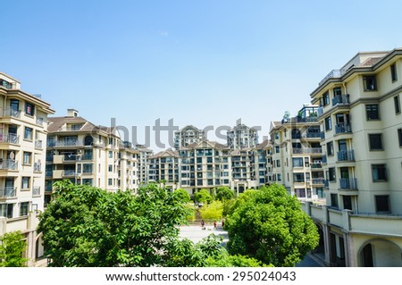 Hangzhou, China - on May 21, 2015: hangzhou suburban residential area building scenery??  this is a large residential area
