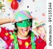Happy carnival kid portrait. - stock photo
