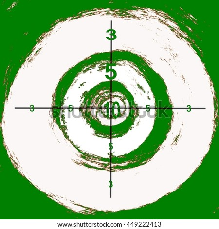 happy dartboard - cartoon targets for archery , crossbow or rifle shooting in different colors. Abstract