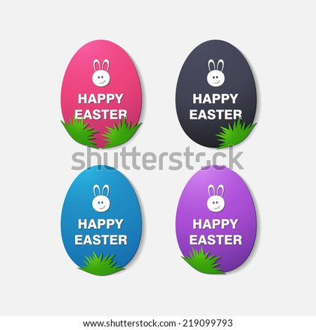 Happy Easter. modern Style. Isolated illustration icon