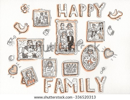 Happy Family. Drawing