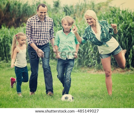 playing with family