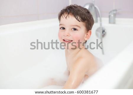 Happy Little Boy After Taking Bath Stock Photo 196623059 Shutterstock