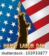 happy labor day - illustration - stock vector