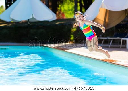 Child girl make mess flooded kitchen stock photo 305992220 - Swimming pool girl christmas vacation ...