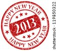 Happy new year 2013  stamp - stock photo