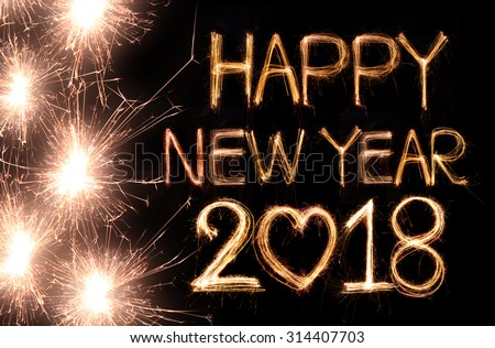 all for yous happy new year 2018 set on shutterstock happy new year 2018 written with sparkle firework