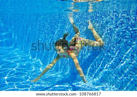 "Kids Swimming Underwater jaysi's ""kids & family swim underwater"" set on shutterstock"