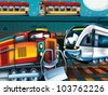 Happy trains - stock photo