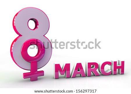 Happy Women Day pink