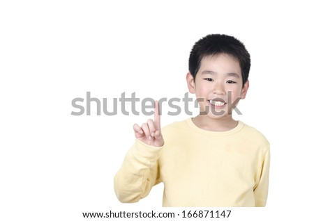 Happy young boy with good idea