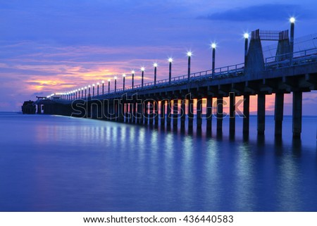 Solid contact clarifier tank type sludge stock photo for Seaview fishing pier