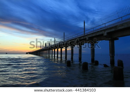 Imperial beach pier after sunset stock photo 90819671 for Seaview fishing pier