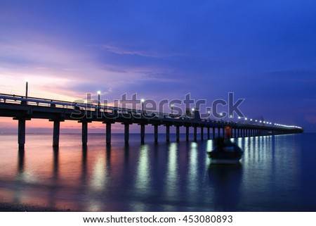 Cityscape mannheim ludwigshafen germany stock photo for Seaview fishing pier
