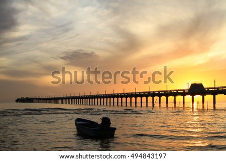 Bird twilight stock photo 395181382 shutterstock for Seaview fishing pier
