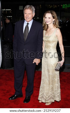 "Harrison Ford and Calista Flockhart at the Los Angeles Premiere of ""Extraordinary Measures"" held at the Grauman's Chinese Theater in Hollywood, California, United States on January 19, 2010."