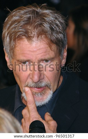 HARRISON FORD at the world premiere of his new movie Firewall at the Grauman's Chinese Theatre, Hollywood. February 2, 2006  Los Angeles, CA.  2006 Paul Smith / Featureflash