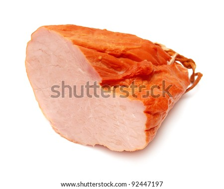 Haunch of meat on a white background