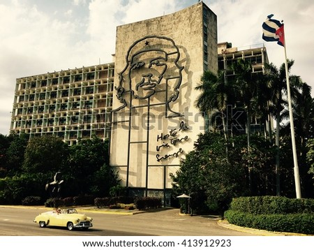 HAVANA - APRIL 27: Street view from the the streets of Old Havana, Cuba on April 27, 2016