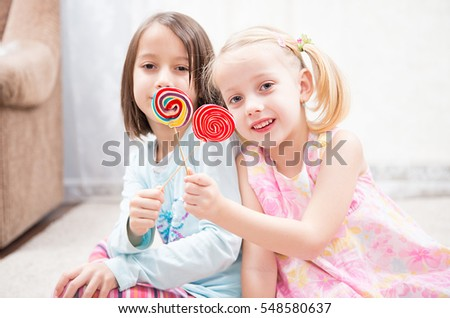 have fun, sugar candy lollipops