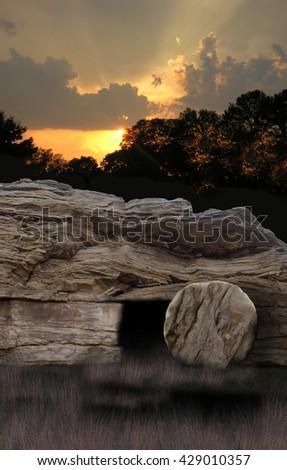 Empty Tomb Sunrise Stock Photo 587881916 Shutterstock