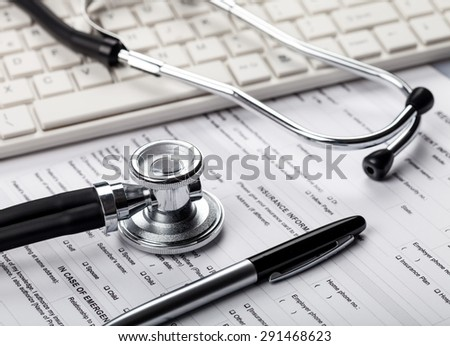 Healthcare And Medicine, Medical Exam, Computer.