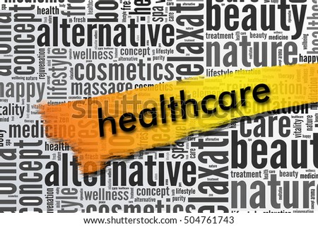 healthcare word on word cloud concept