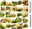 healthy salad composition - stock photo