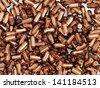 Heap of Gun Bullets Background - stock vector