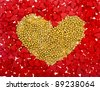 heart card of sweet sprinkles - stock photo