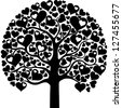 Heart tree isolated on White background.  illustration - stock vector