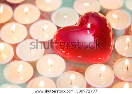 heart with candles - warm up the heart