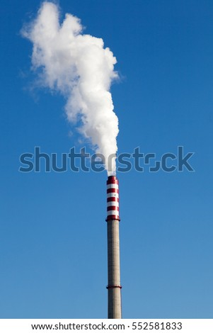 Heating Plant Emit Carbon Dioxide Pollution