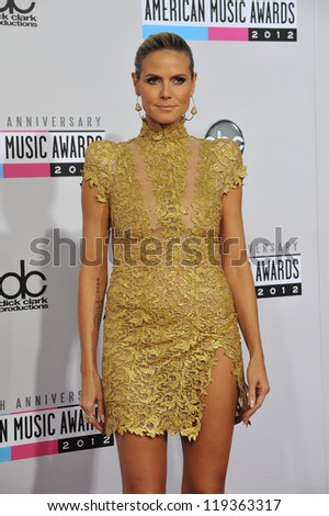 Heidi Klum at the 40th Anniversary American Music Awards at the Nokia Theatre LA Live. November 18, 2012  Los Angeles, CA Picture: Paul Smith