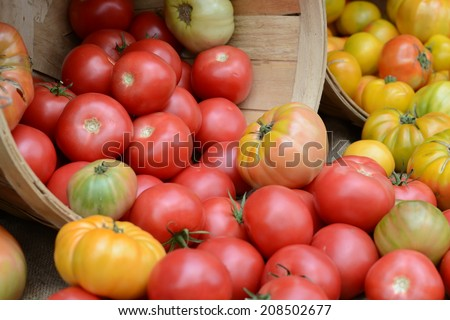 Heirloom Tomatoes at a Farmer's Market