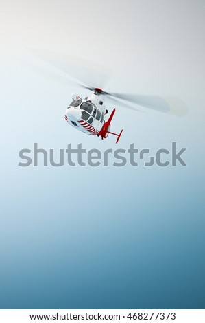 Helicopter, 3D illustration