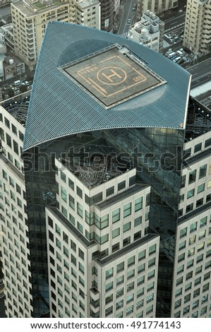 helicopter landing pad on top