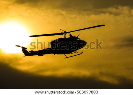helicopter. Military